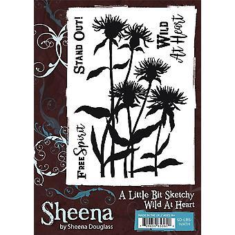 Sheena Douglass A Little Bit Sketchy A6 Stamp Set - Wild At Heart