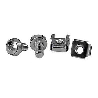 Startech 50 Pkg M6 Mounting Screws And Cage Nuts