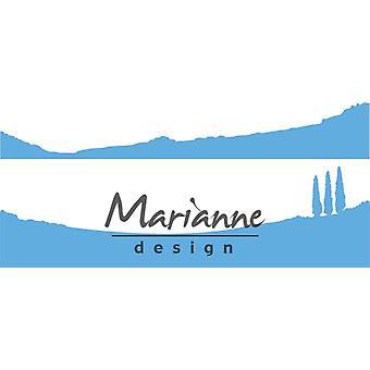 Marianne Design Creatables Horizon: Tuscany dø, metall, blå, 18.1 x 9.4 x 0,2 cm