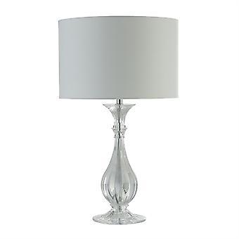 Searchlight Sanna 1 Lâmpada de mesa clara, sombra branca 1469CL