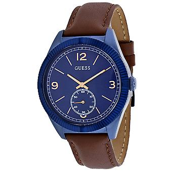Guess Men's Abito Blue Dial Watch - W0873G2