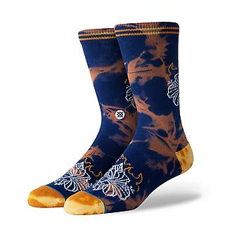 Stance Flora Flame Crew Socks in Navy