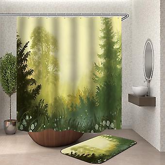Cortina de ducha del bosque