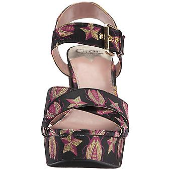 Circus by Sam Edelman Womens Maria Fabric Open Toe Special Occasion Ankle Str...