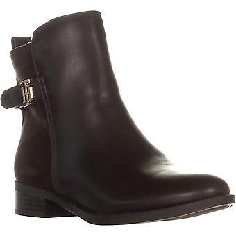 トミー ヒルフィガー レディース Irsela 革クローズドつま先の足首ファッション ブーツ