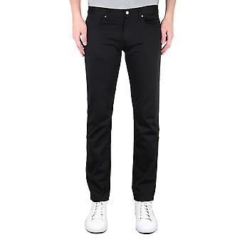 HUGO 708 Slim Fit Stretch Black Denim Jeans