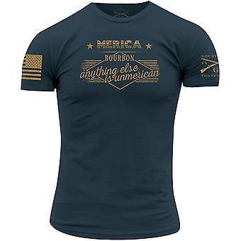 Grunt stijl Merica Bourbon Unmerican T-shirt-blauw