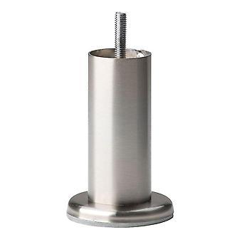 Pata redonda de muebles de acero inoxidable 12 cm (M8) (1 pieza)