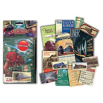 Dampf-Züge Ephemera Erinnerungsstücke Pack (mp)