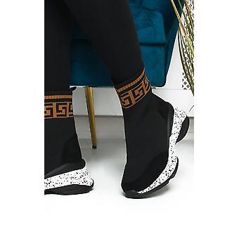 IKRUSH Womens Sarra Printed Chunky Sock Trainers