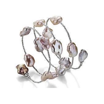 Yana Nesper-armband-kvinnor-Freshwater Pearl Armband WRAPme IS52 i vitt guld