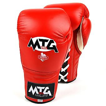 Mtg pro lace-up boxing gloves - red
