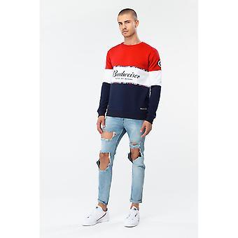 Hype Budweiser Herren Colourblock Crewneck Sweatshirt