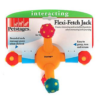 Petstages Flexi Fetch Jack Interactive Dog Toy