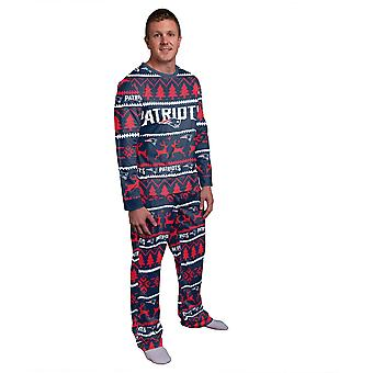 NFL Winter XMAS Pajamas Pajama Pajama - New England Patriots