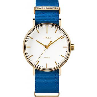 Timex TW2R49300D7 reloj - reloj cristales tela azul mujer