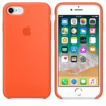Original Packed MR682Z/MA Apple Silicone Microfiber Cover Case for iPhone 8/7 - spicy orange