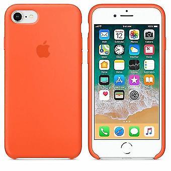 Alkuperäinen pakattu MR682Z / MA Apple Silikoni kansikotelo iPhone 8 / 7 iPhone SE 2020 - mausteinen oranssi