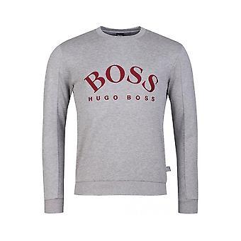 Hugo Boss Salbo Slim fit Grey Bluza dresowa z kapturem