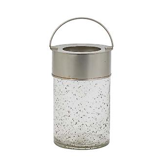 Light & Living Hurricane 17x27cm Cambas Glass Antique And Handle Silver