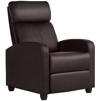Single Lederen Fauteuil Verstelbare Sofa Cinema Ligstoel voor woonkamer, Brown