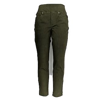 Belle by Kim Gravel Women's Jeans Flexibelle Zip Ankle Green A354261