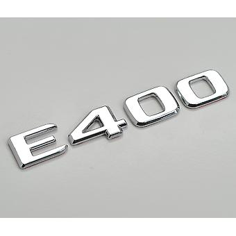 Silver Chrome E400 Flat Mercedes Benz Car Model Rear Boot Number Letter Sticker Decal Badge Emblem For E Class W210 W211 W212 C207/A207 W213 AMG