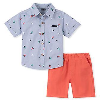 Nautica Boys-apos; Little 2 Pieces Shirt Shorts Set, Blue Print, 6