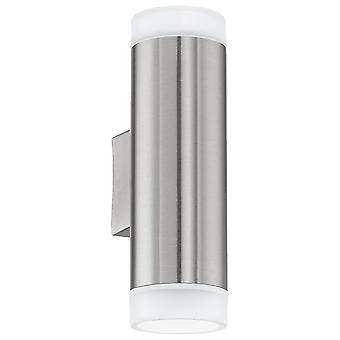 Eglo Riga-LED - LED Outdoor Up Down Wall Light Stainless Steel IP44 - EG92736