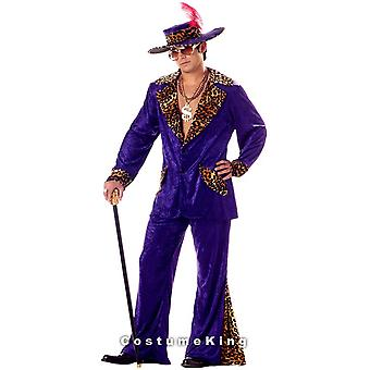 Big Daddy Purple Pimp 1920s 70s Gangster Deluxe Men Costume
