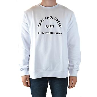 Karl Lagerfeld Ezbc217005 Men's White Cotton Moletom