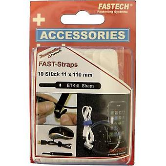 FASTECH® 800-010C Krok-och-slinga kabelslips för buntning Krok och slinga pad (L x W) 110 mm x 11 mm Vit 10 st(er)