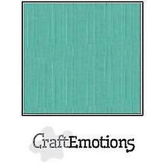 CraftEmotions linen cardboard 10 Sh sage pastel LHC-29 A4 250gr