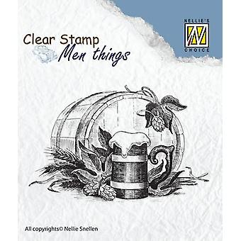 Nellie's Choice Clearstamp - Men things Beer CSMT010 75x50mm