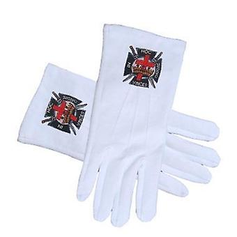 Knights of templar masonic gloves