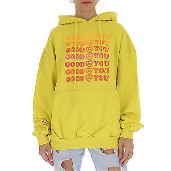Ireneisgood Igfgh004740 Femmes-apos;s Sweatshirt de coton jaune