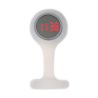 Boxx Led Digital White Rubber Infection Control Nurses Fob Watch