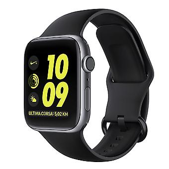 Silicone da pulseira Apple Watch 38/40 - Preto