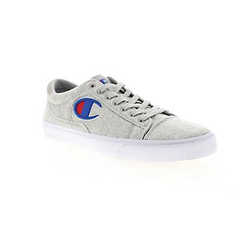 Champion Fringe LO  Mens Gray Canvas Lace Up Low Top Sneakers Shoes