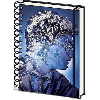 ハリーポッターマジックポートレート3DカバーA5ノートブック