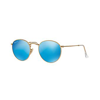 Ray-Ban RB3447 112/4L Matte Gold/Polarised Blue Mirror Sunglasses