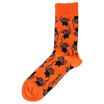 MySocks Monkey Socks - Blue/Brown