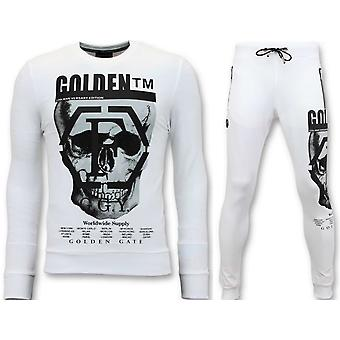 Tracksuit With Print - Skull - White