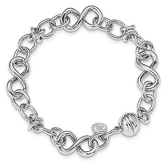 6.16mm 925 Sterling Silver Rhodium plated Polished Fancy Link Bracelet 8 Inch Jewelry Gifts for Women