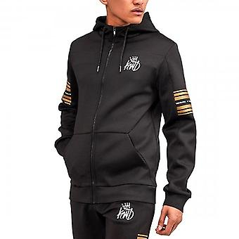 Kings Will Dream Vez Black Gold Zip Up Poly Hoody