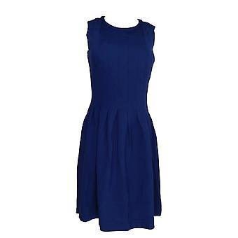 Shape FX Dress Ponte Knit Pleated Dress w/ Power Dark Blue A272115