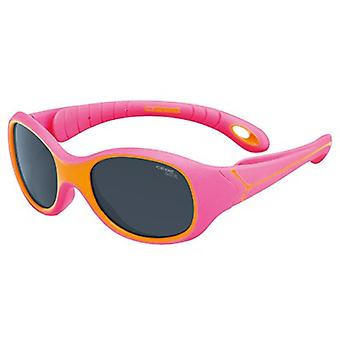 Cebe S Kimo 1 to 3 Yrs Kids Sunglasses (1500 Grey Blue Light Lens Fuchsia Orange Frame)