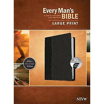 Every Man's Bible NIV - Large Print - Black/Onyx - Indexed by Stephen