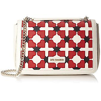 Love Moschino Bag Pu ivory/black/red - Multicolored Women's shoulder bags (Ivory-black-red) 6x20x30 cm (B x H T)