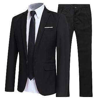 Allthemen Men es Suit Four Seasons Slim Fit Business Casual 2-Pieces Suits Blazer & Pants
